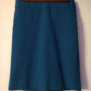 Banana Republic blue pencil skirt